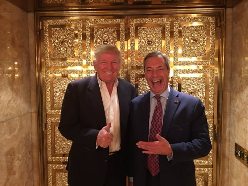 Donald Trump et Nigel Farage le 12 novembre