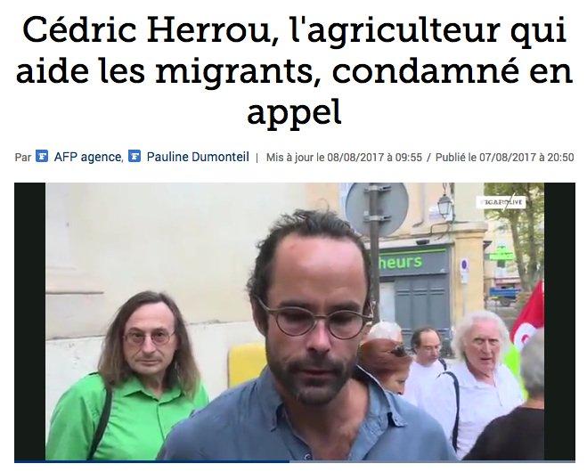 « Mais prenez-les chez vous ! » Monument en l'honneur de Cédric Herrou