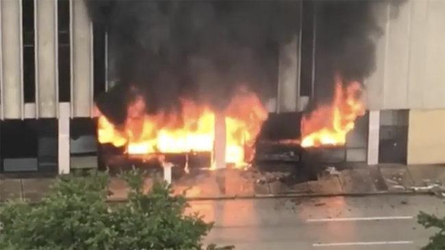 Explosion dans un immeuble à Houston