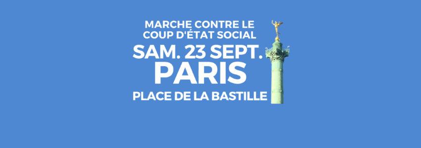 23 septembre à la Bastille : la marche contre le coup d'État social