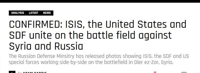 """Syrie : opposition """"modérée"""" et forces US au côté de Daesh à Deir ez-Zoor ?"""
