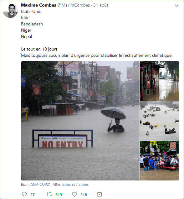 Des catastrophes en chaîne