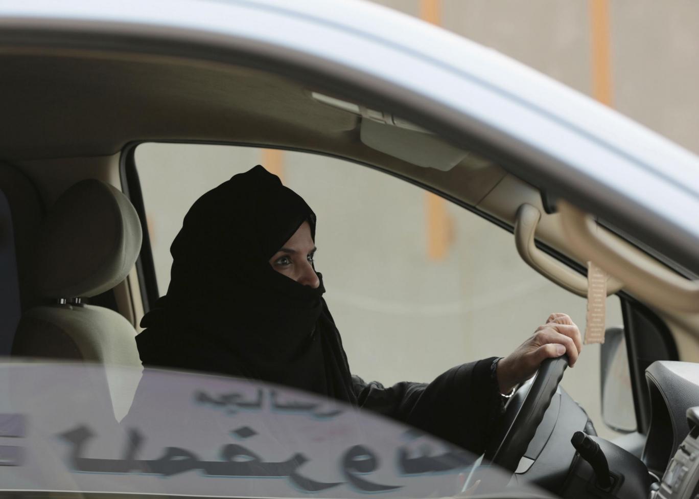 Saoudienne conduisant illégalement une voiture le 19 mars 2014