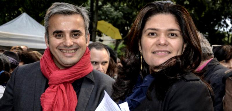 Alexis Corbière et Raquel Garrido