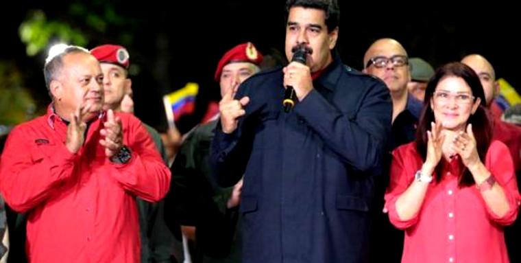 Maduro annonçant le résultat des élections régionales