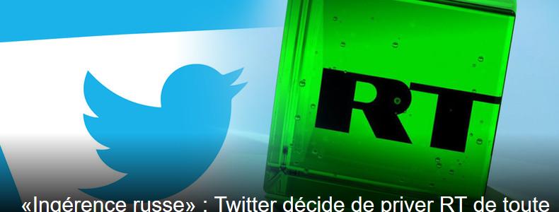 Guerre de l'info : Russia Today et Sputnik interdits de promotion sur Twitter