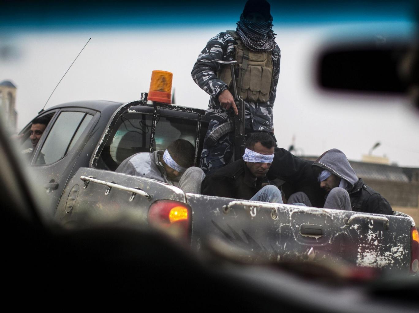 Islamistes de Daech prisonniers