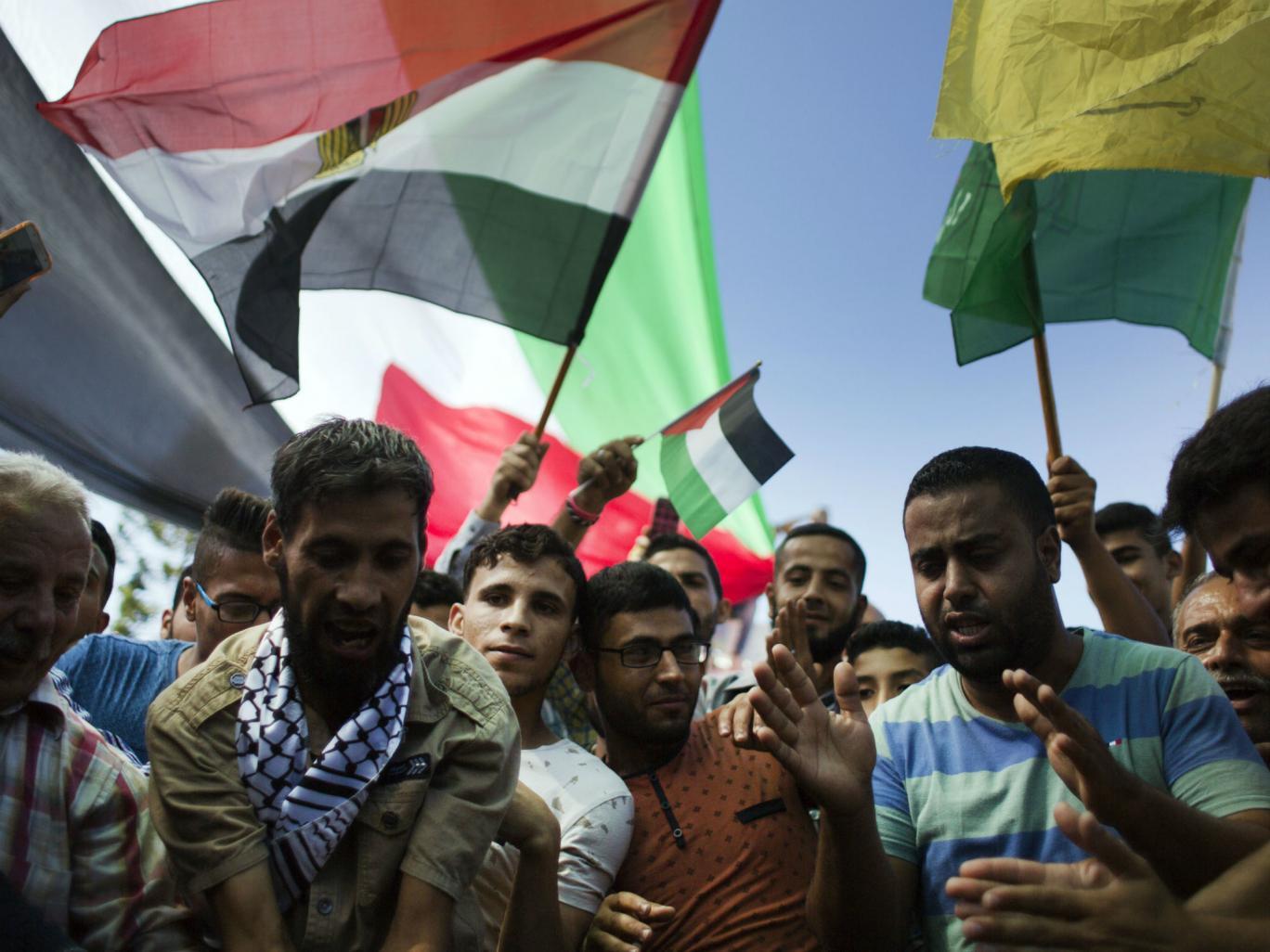 Des Palestiniens fêtent leur unité retrouvée