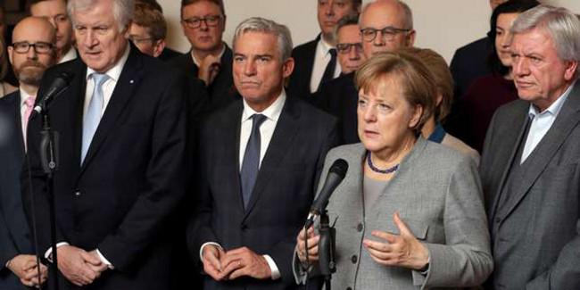Merkel et la droite