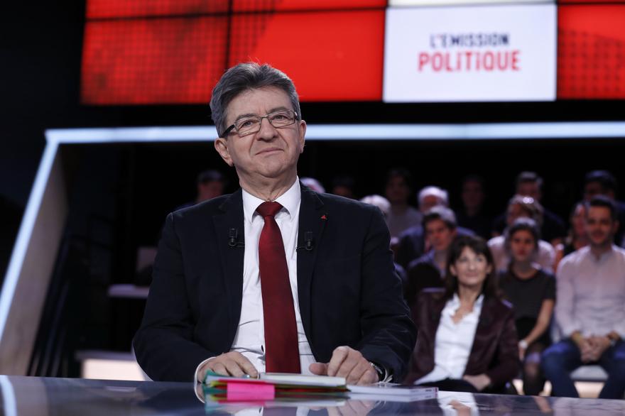 JL Mélenchon sur le plateau de l'Emission politique