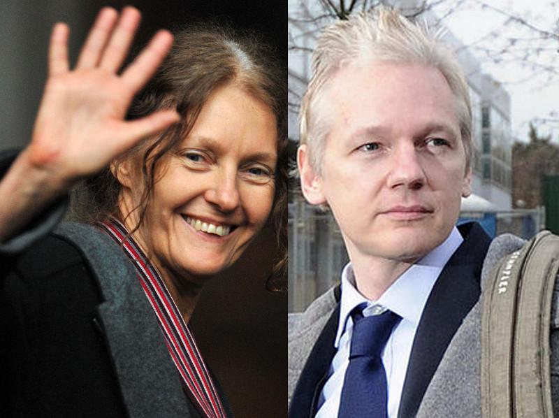 Assange, mère et fils