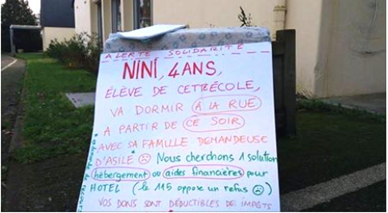 RESF : solidarité urgente avec Nini, SDF de 4 ans