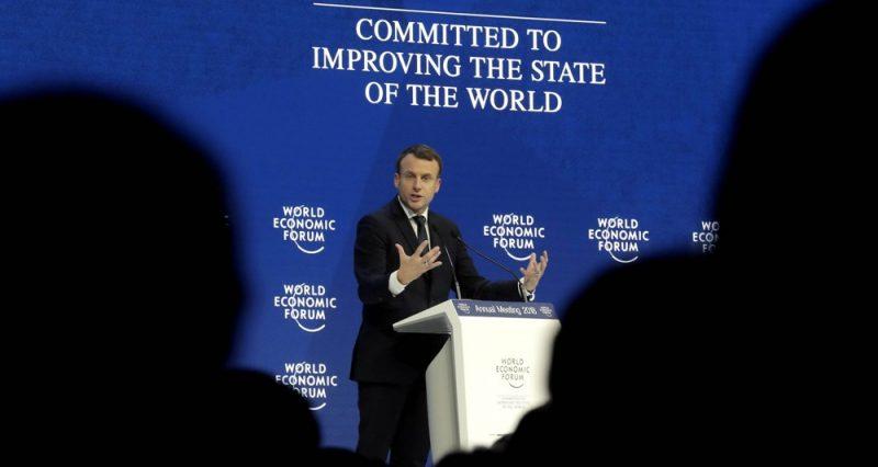 Macron à Davos: le vulgaire discours d'un représentant des banques