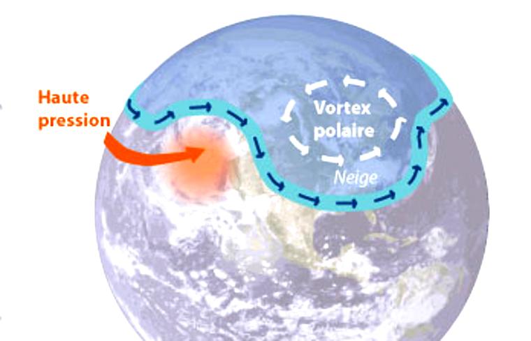 La vague de grand froid en France est dû à un réchauffement climatique
