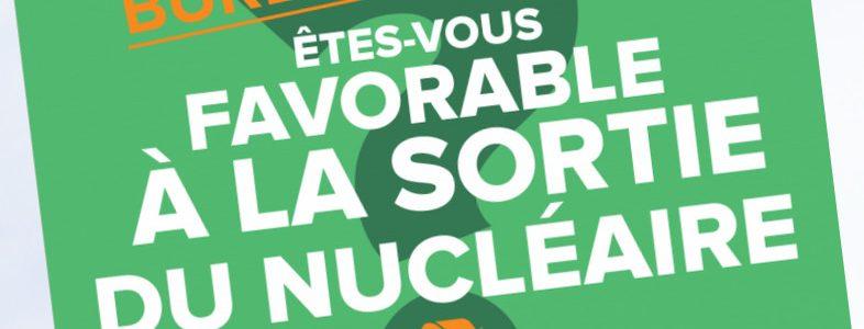 Votation citoyenne : êtes-vous favorable à la sortie du nucléaire ?