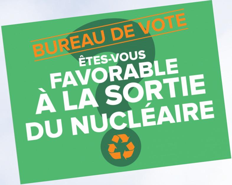 Votation citoyenne: êtes-vous favorable à la sortie du nucléaire?