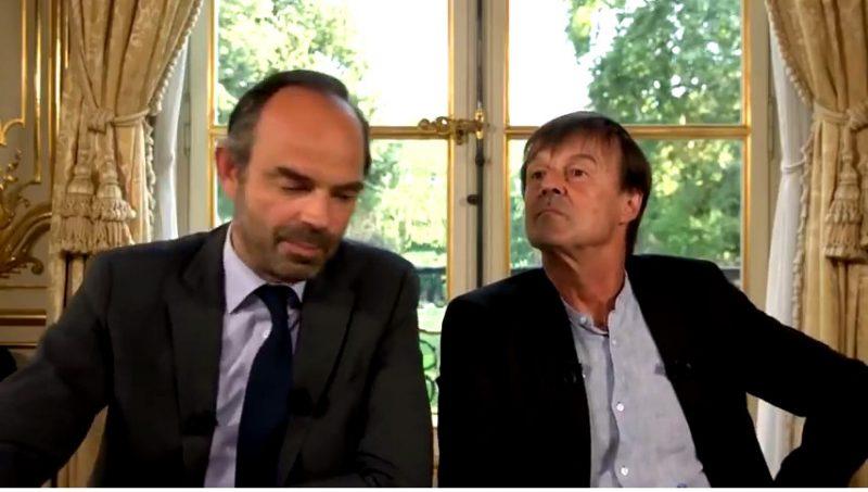 Édouard Philippe et Nicolas Hulot parlent d'effondrement