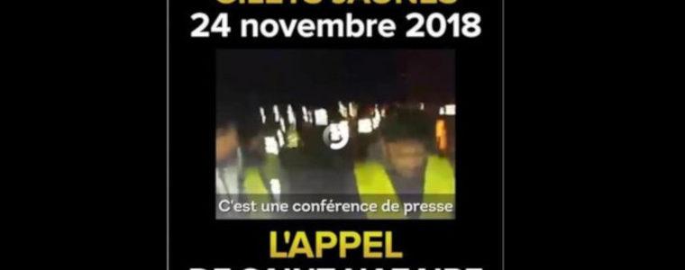 L'appel des Gilets jaunes de Saint-Nazaire pour le 24 novembre