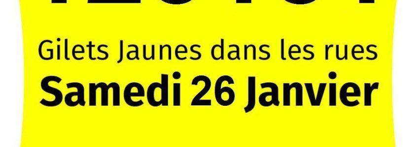 Gilets jaunes acte 11 du 26 janvier: 123.151 manifestants au minimum