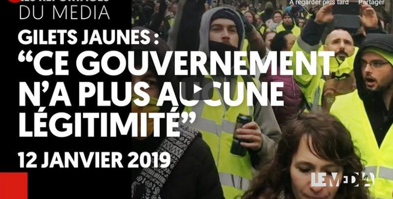 Gilets jaunes : « Ce gouvernement n'a plus aucune légitimité, il faut qu'il tombe »