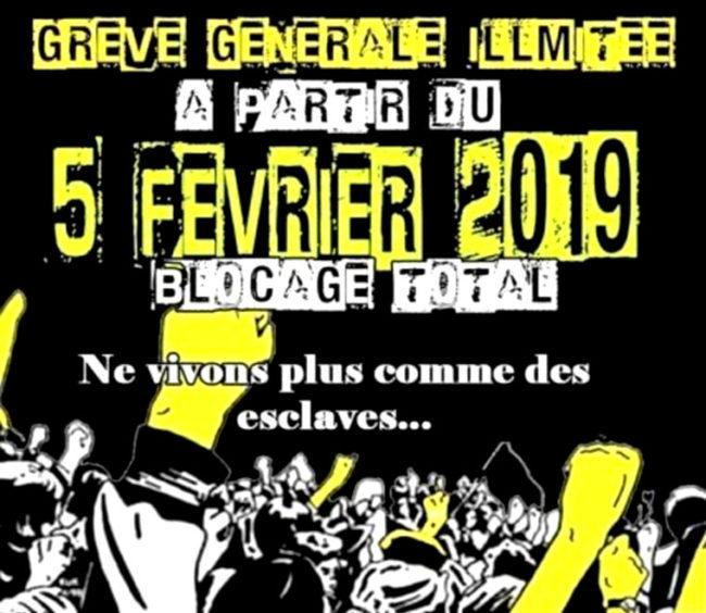 Gilets jaunes acte 12: grève générale illimitée à partir du 5 février