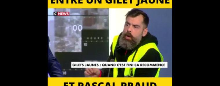 """Les Gilets jaunes en plateau: un puissant démolisseur de la """"connerie unique"""""""