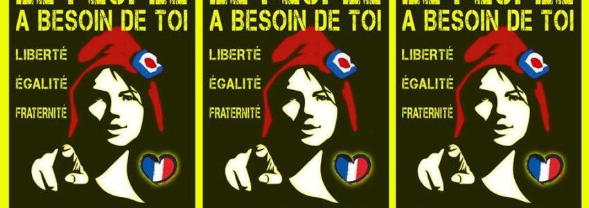 Liberté, Égalité, Fraternité : où sont donc ces trois merveilles, que nous courrions à elles ?