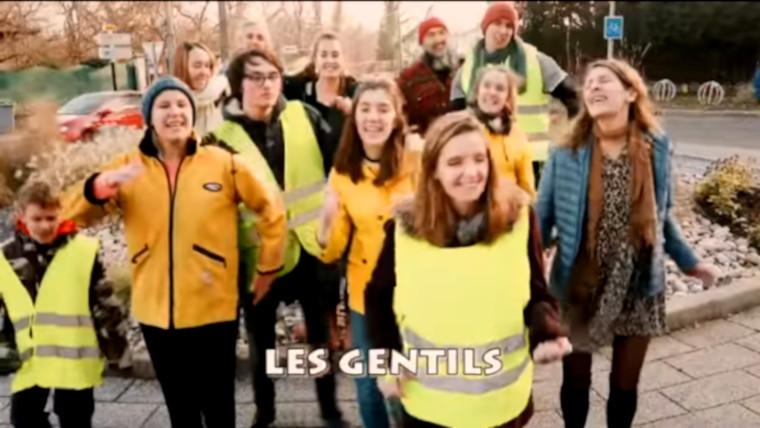 Déjà un tube Gilets jaunes : Les Gentils, les Méchants, par Marguerite et son Big Bazar II