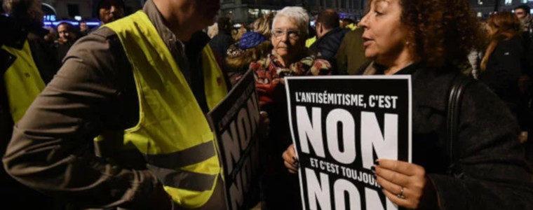 """Des Gilets jaunes dans une manifestation """"contre l'antisémitisme"""": prolophobie"""