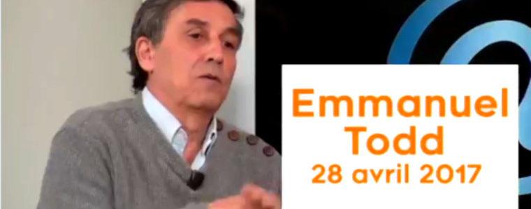 Emmanuel Todd sur Macron (28 avril 2017) : «On est au début d'une crise historique»