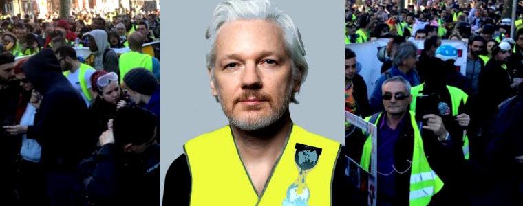 Cher Julian Assange, l'acte 22 des Gilets jaunes français vous est tout particulièrement dédié