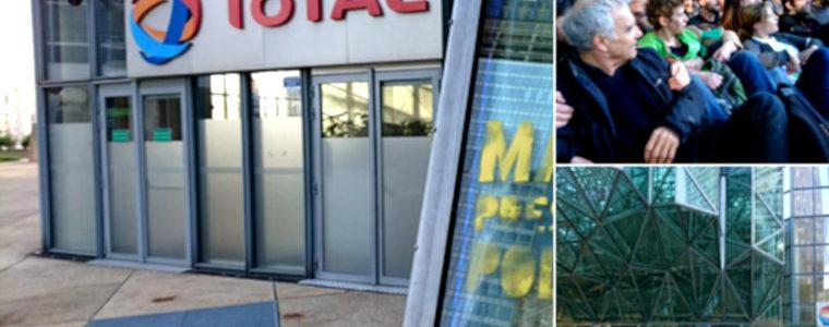 Info : blocage en cours de Total et de la Société générale ce matin du 19 avril