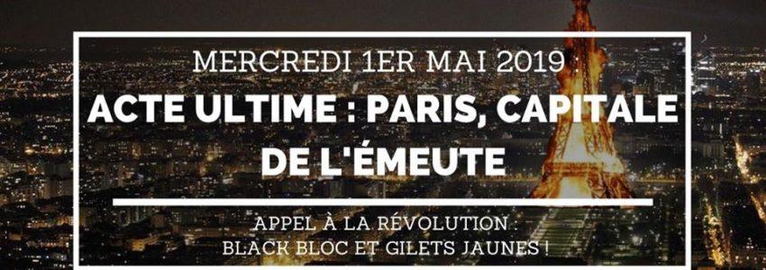 Paris mai : mois de l'émeute en jaune