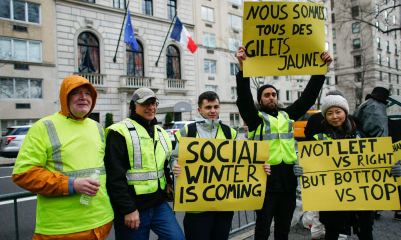 Le mouvement des Gilets jaunes s'inscrit dans le cadre de la désintégration de l'empire occidental