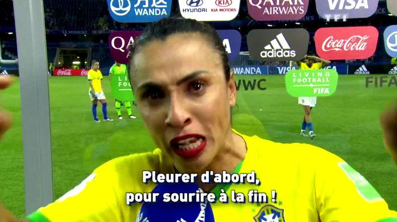 L'interview de Marta, capitaine de l'équipe de foot féminine brésilienne