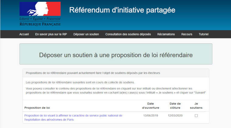 RIP : voter et faire voter la proposition de loi référendaire sur ADP