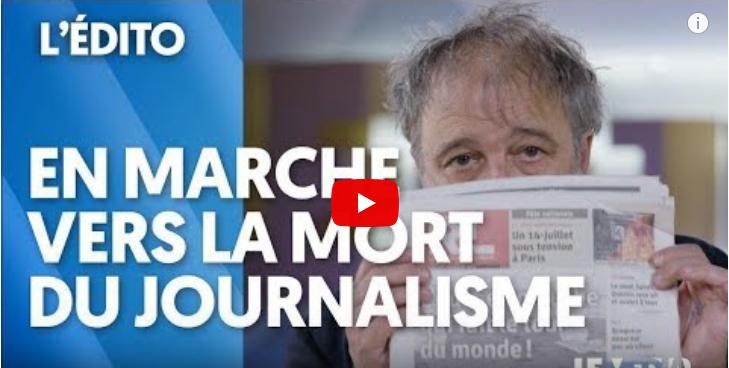 En marche vers la mort du journalisme, par Denis Robert