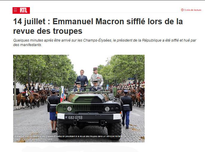 DIRECT 14 juillet, Paris : les Gilets jaunes humilient «l'éborgneur»
