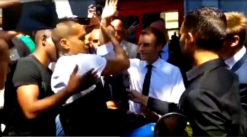 """Du """"triomphe"""" à l'humiliation : « Enlève ta main, Macron, sale gars ! »"""
