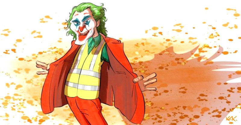Gilets jaunes et Joker : les deux symboles emblématiques de l'insurrection