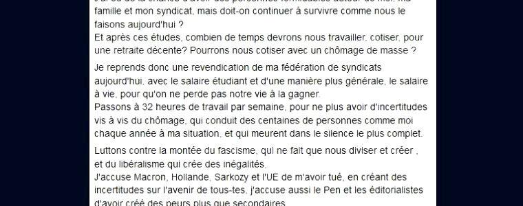 Immolation d'un jeune homme à Lyon : de l'acte désespéré à la révolution