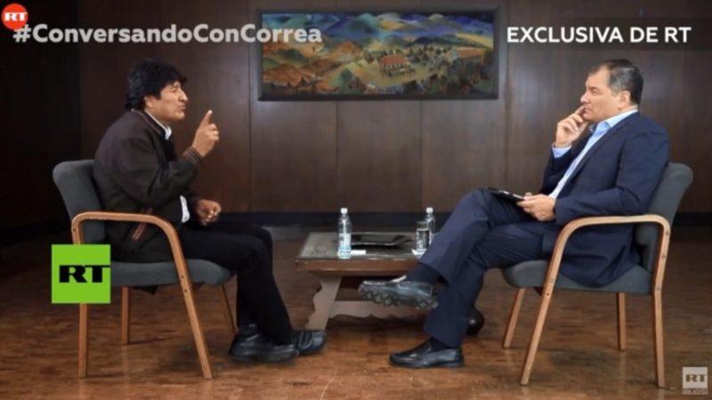 Bolivie : une interview d'Evo Morales par Rafael Correa