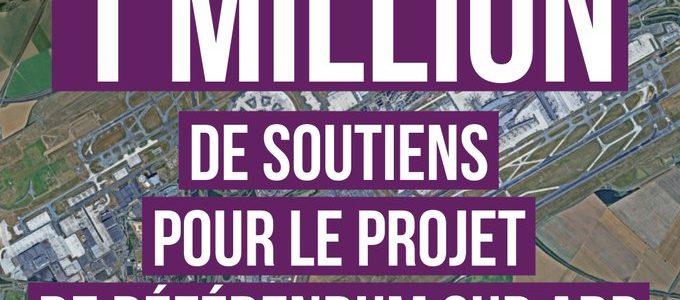 Les 1 million de soutiens au référendum ADP et la promesse du président