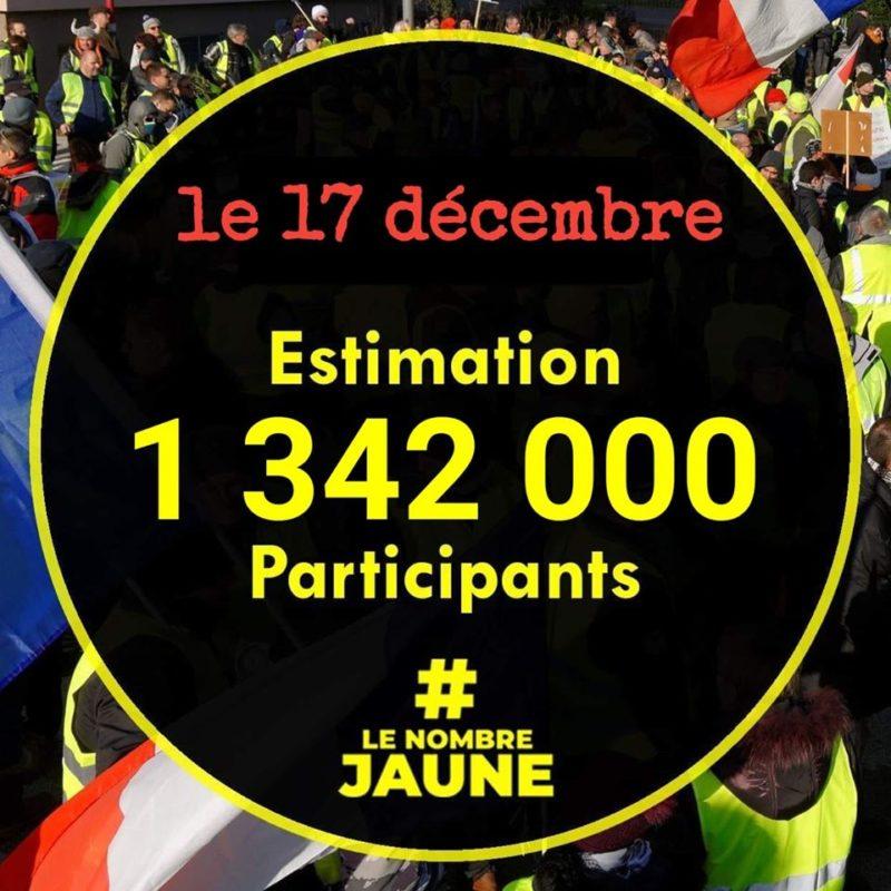 17 décembre : la véritable estimation (chiffre provisoire à 18 heures)