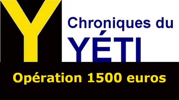 Pot solidaire annuel pour le yetiblog : objectif 1.500 euros