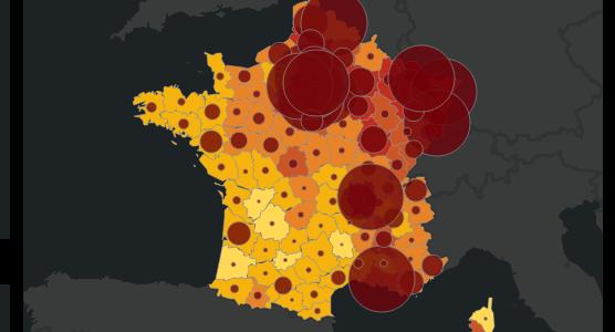Covid-19 : la situation sanitaire en France par département