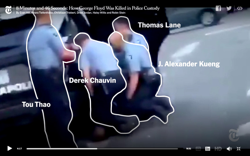 VIDÉO : le meurtre de Georges Floyd en 8 minutes et 46 secondes