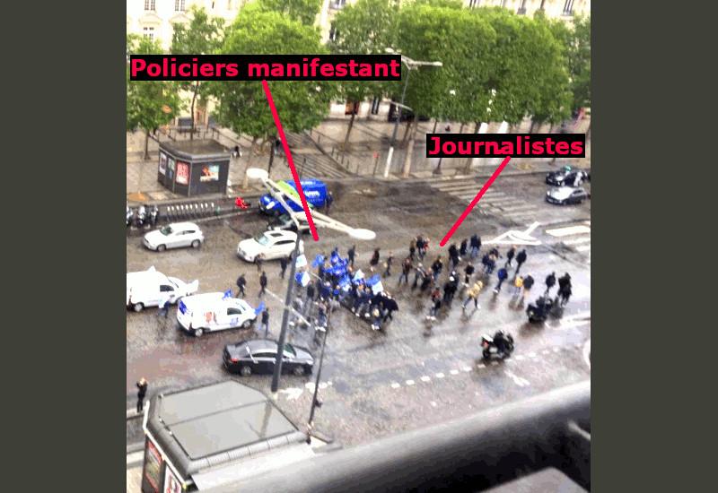 Dislocation macronienne : la police sur les traces des Gilets jaunes (blague)