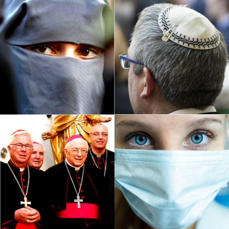 Après le port du tchador, de la kippa et de la croix… le port du masque !