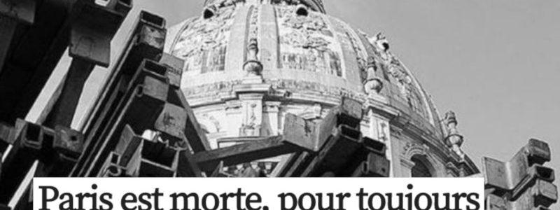 L'effondrement frappe aussi les grandes mégalopoles comme Paris